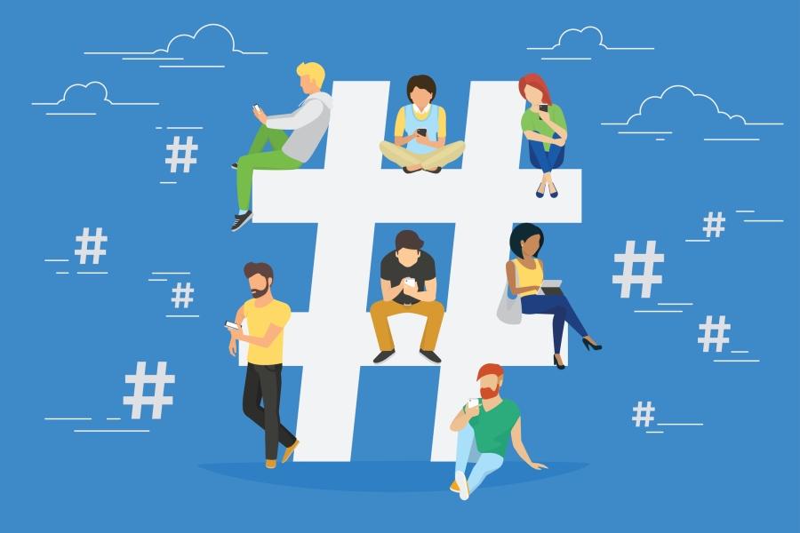 Hashtag concept illustration